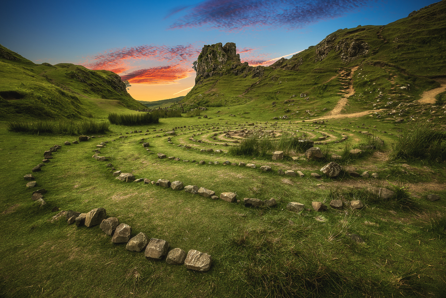 Scotland - Fairy Glen by Jean Claude Castor