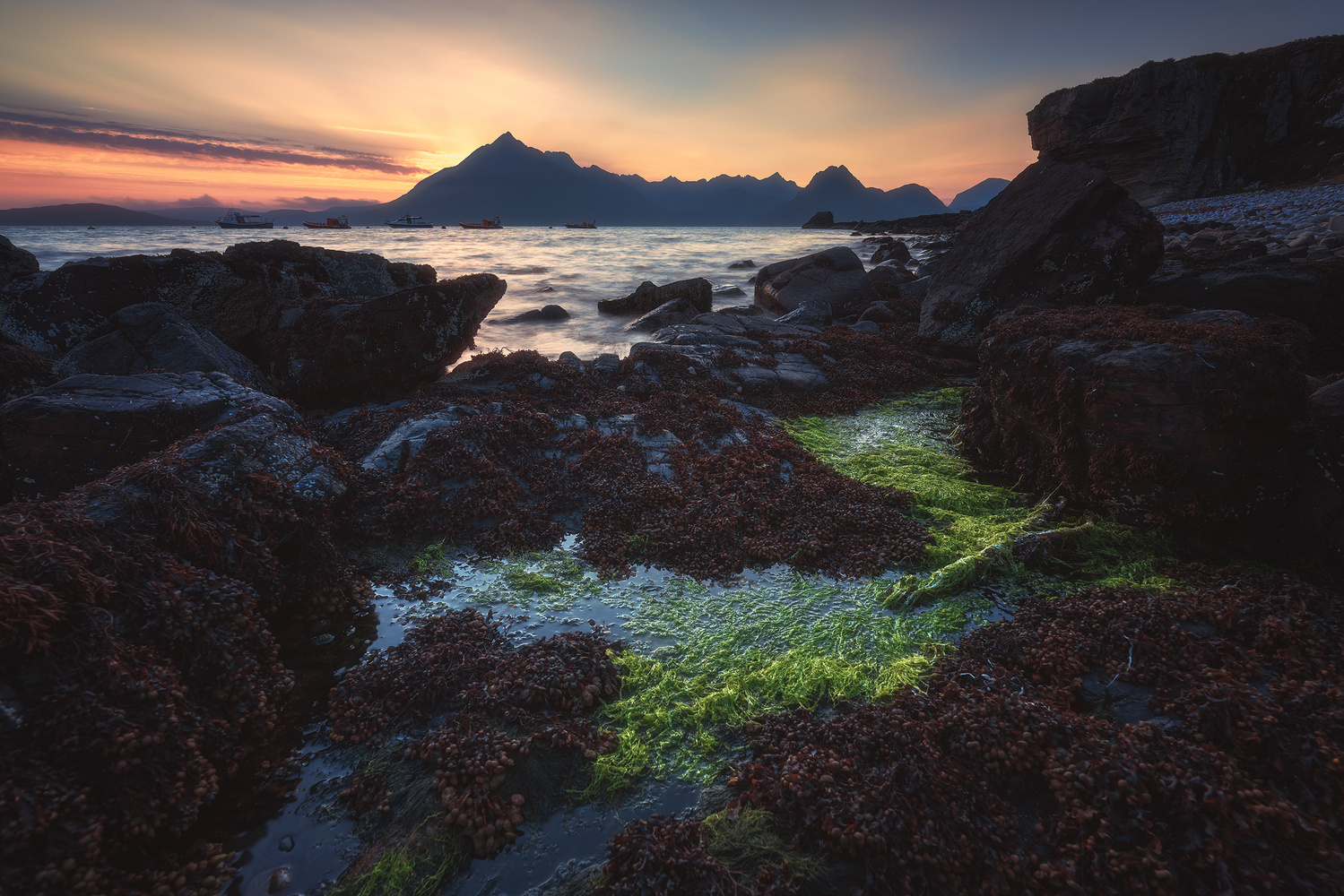 Scotland - Elgol Sunset by Jean Claude Castor