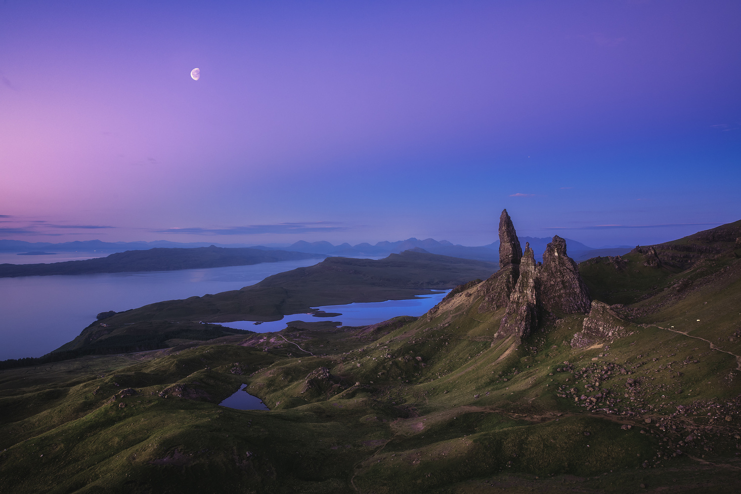 Scotland - Storr at Night by Jean Claude Castor