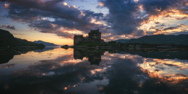 Scotland - Eilean Donan Castle Panorama by Jean Claude Castor