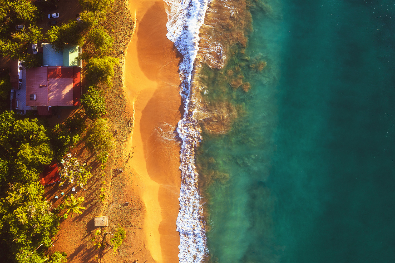 Guadeloupe - Plage de la Perle Aerial by Jean Claude Castor