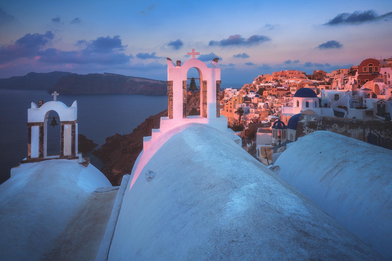 Santorini - Oia Alpenglow by Jean Claude Castor