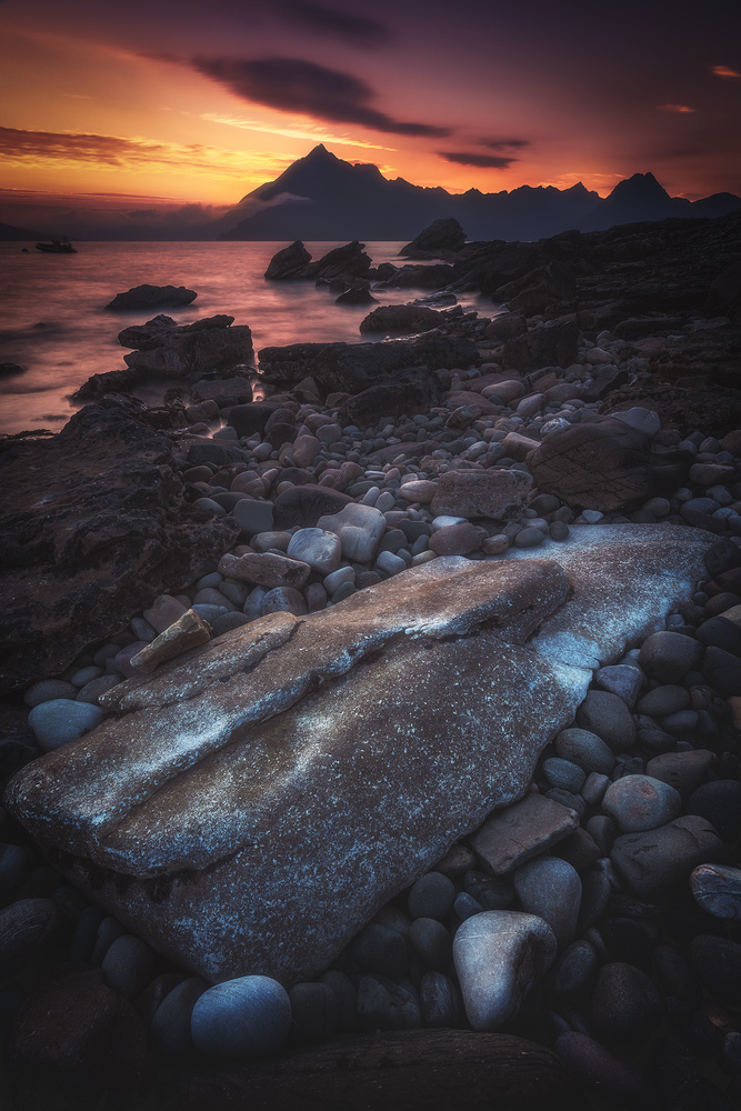 Scotland - Elgol Sunset by Jean Claude Castor