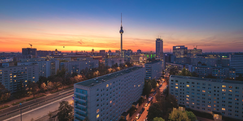 Berlin . Skyline Karl Marx Allee Panorama by Jean Claude Castor