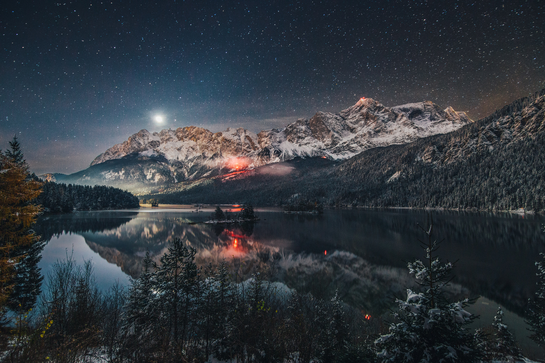 Moonrise at the Lake  by Sebastian Tontsch