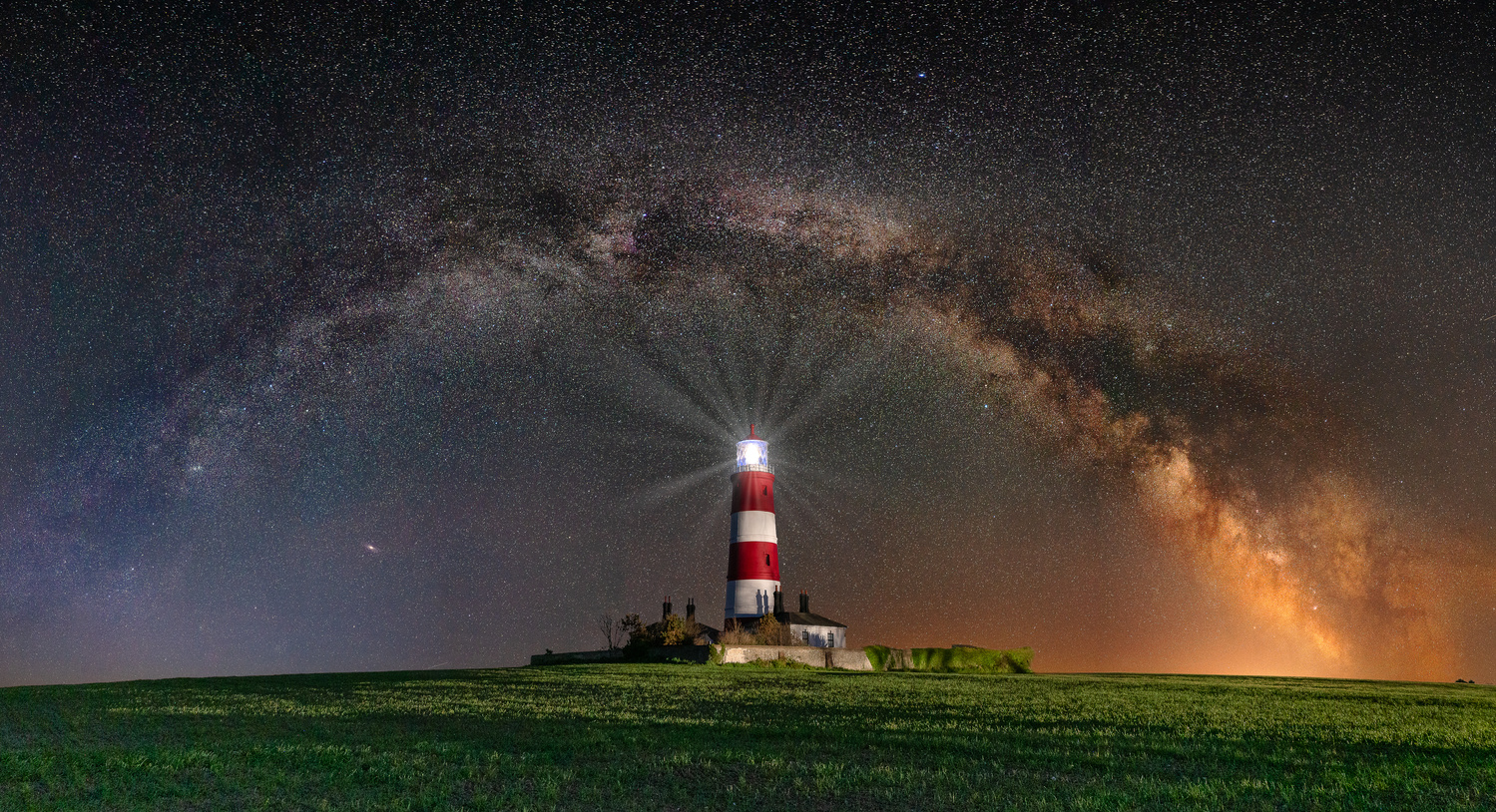 Happisburgh Lighthouse with Milky Way Galaxy Arch by Tony Balsimo