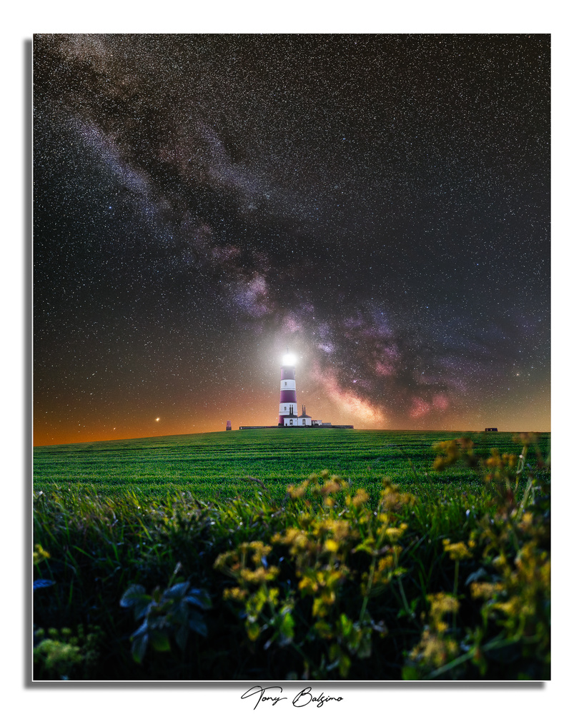 Happisburgh Lighthouse with Milky Way Galaxy by Tony Balsimo