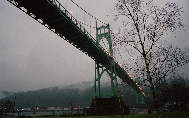 St Johns Bridge at Dusk by Steven Newton