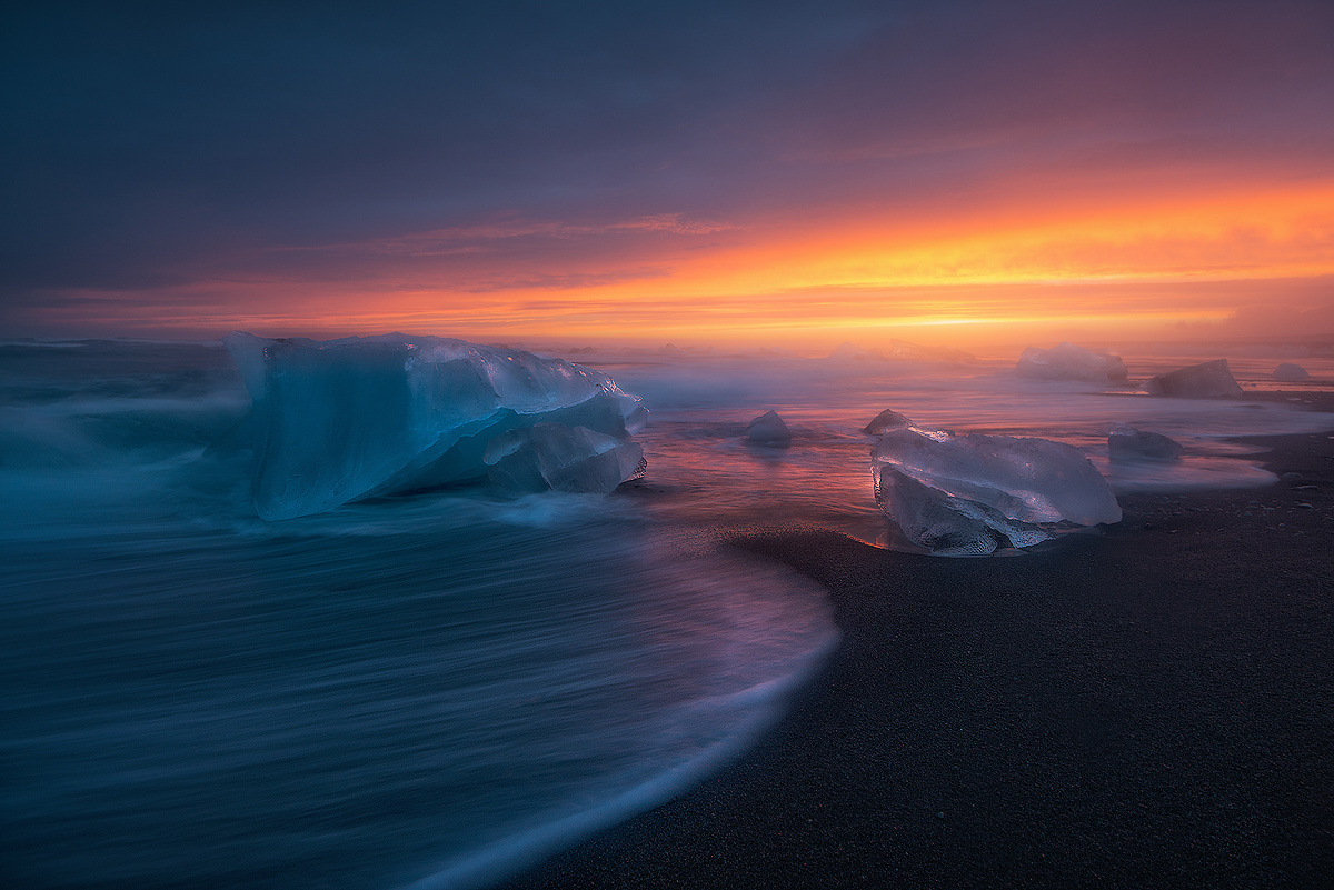 The Ice Diamonds of Breiðamerkursandur by Grzegorz Piechowicz