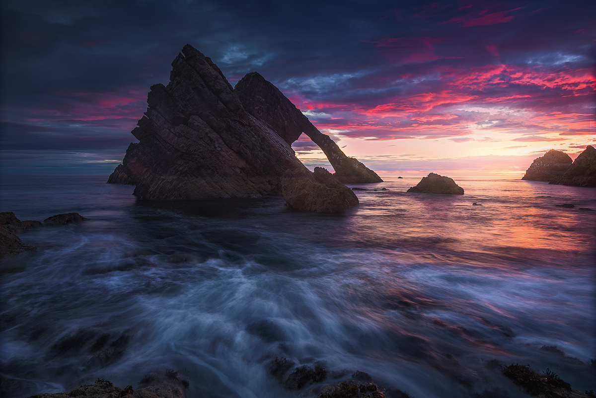 Sunrise above Bow Fiddle Rock by Grzegorz Piechowicz