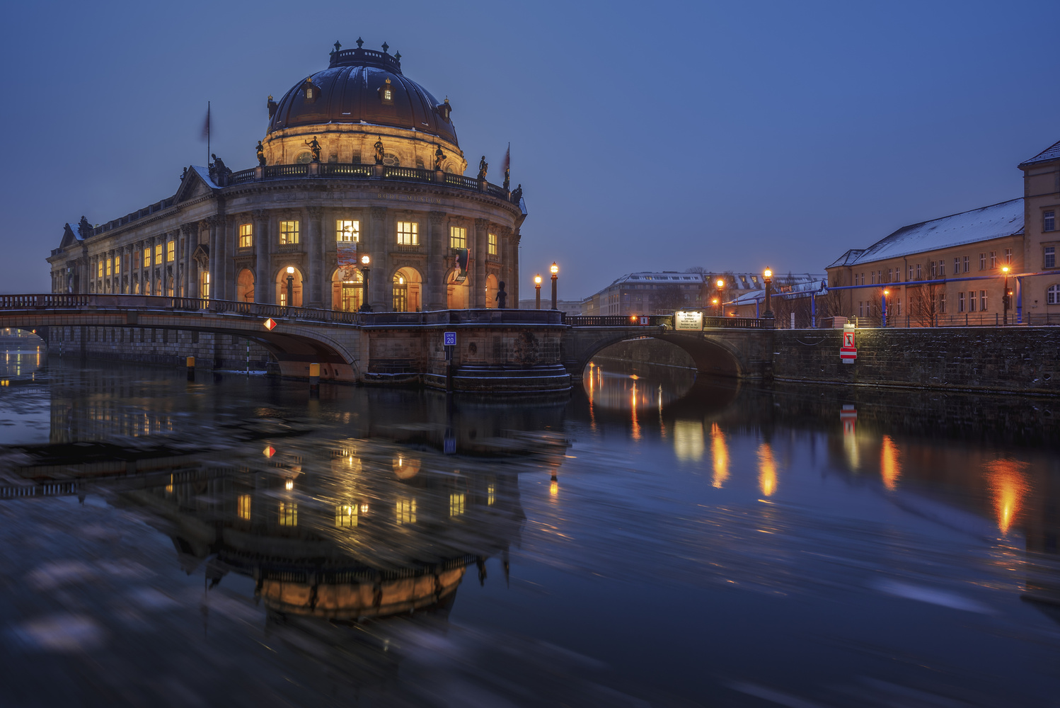 Bode-Museum - Blue Hour by Bruce Girault