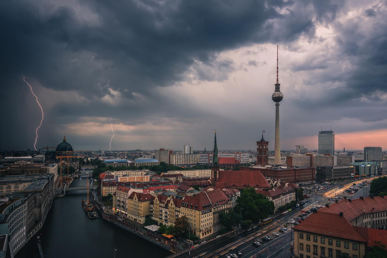Thunderstorm running over Berlin by Bruce Girault