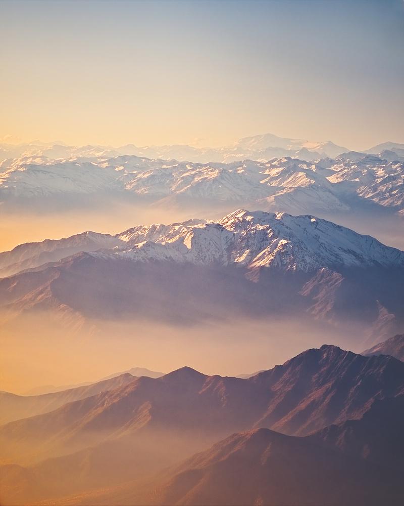 The Andes mountain range by Elio Rivero