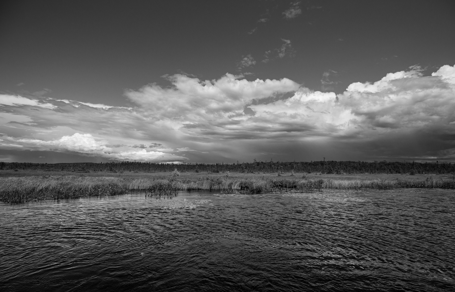 Clouds over East Pond by Shawn Mahan