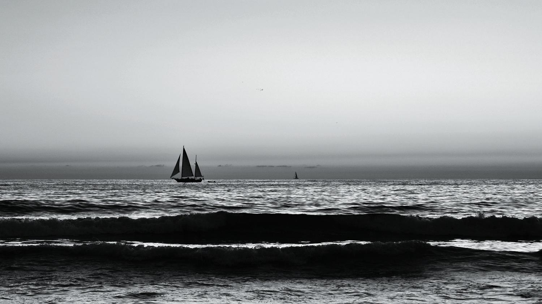 Sailboat Silhouette by Shivam Sarawagi
