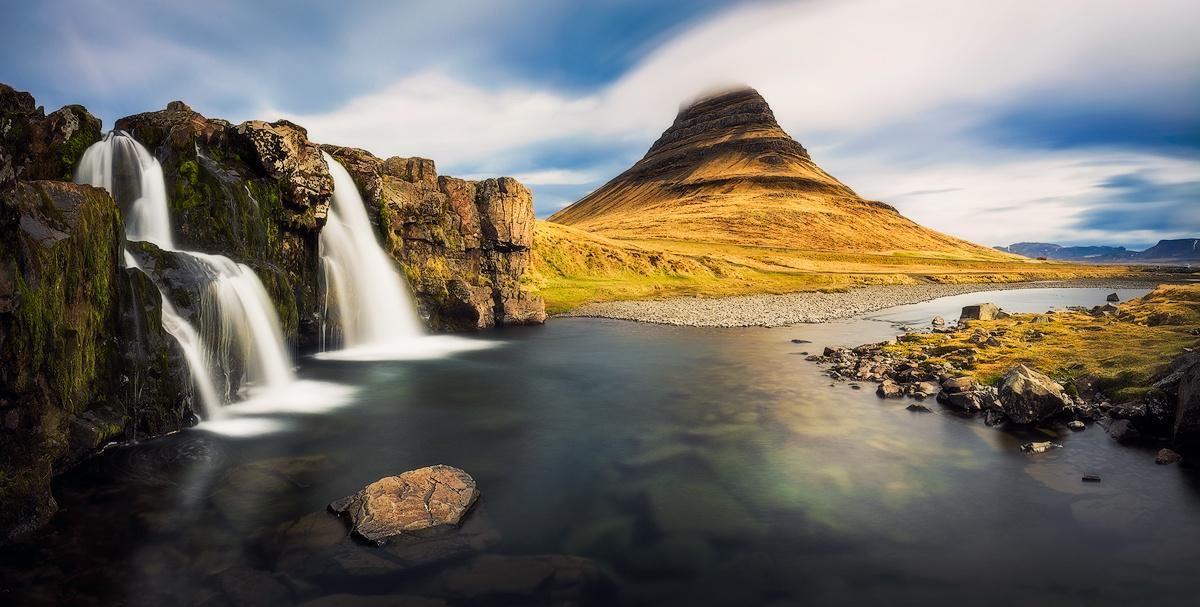 Panoramic view on Kirkjufellsfoss by Rafal Rozalski