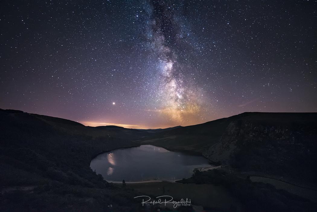 Milky Way above Lough Tay - Ireland by Rafal Rozalski