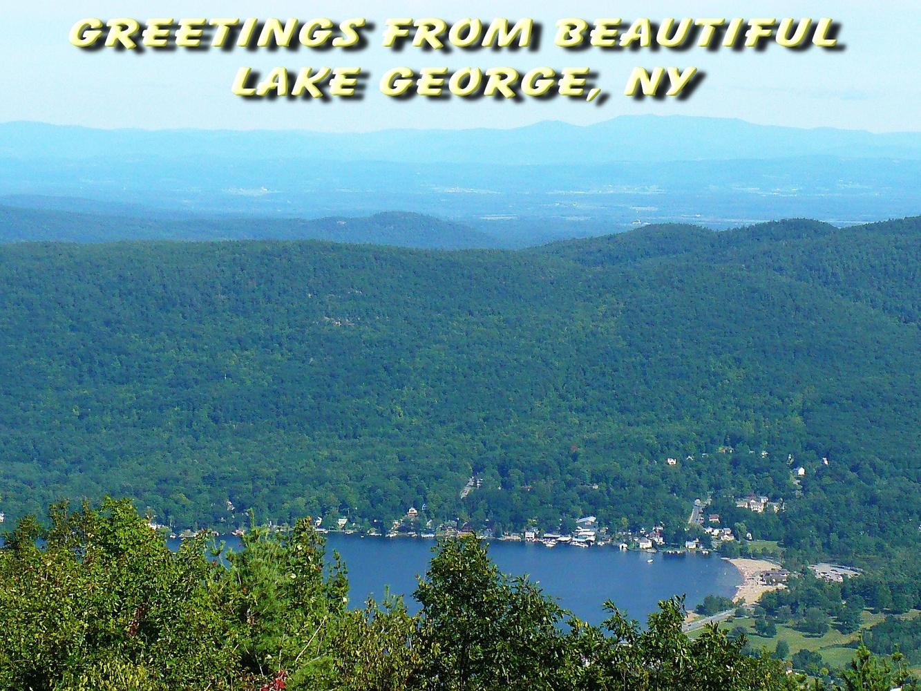 Lake George Postcard by Linda Whitworth