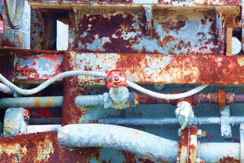 Rusty Valve Handle by Linda Whitworth