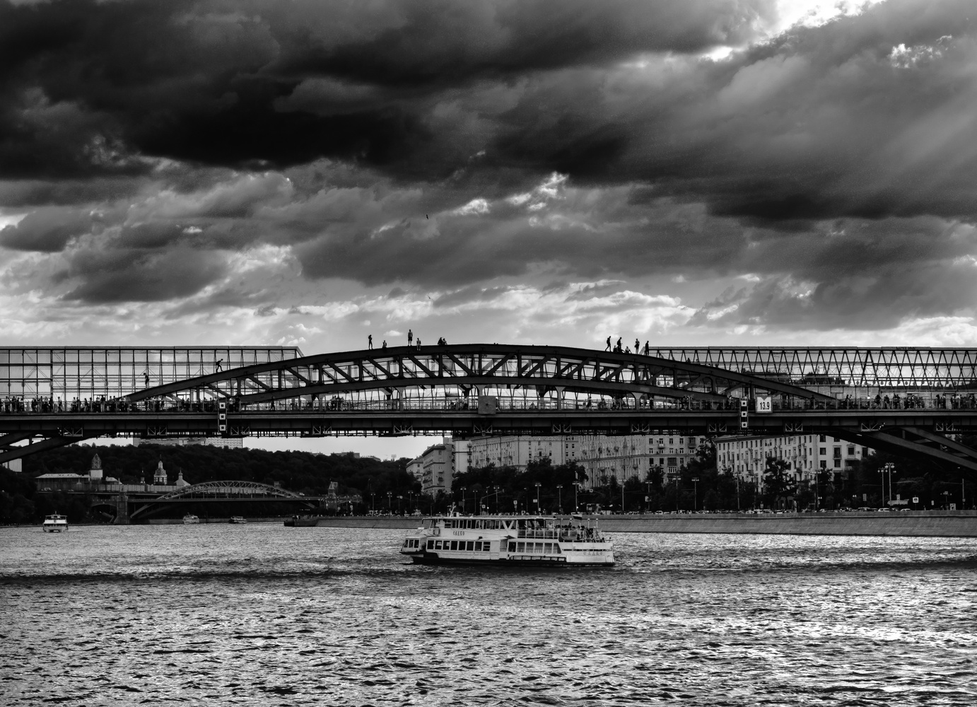 Bridge Climbers by andrew audley