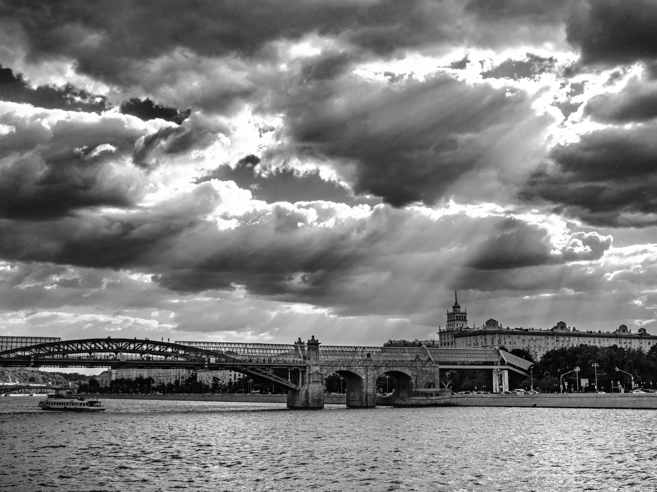 Sun Breaking Through over the Moskva by andrew audley