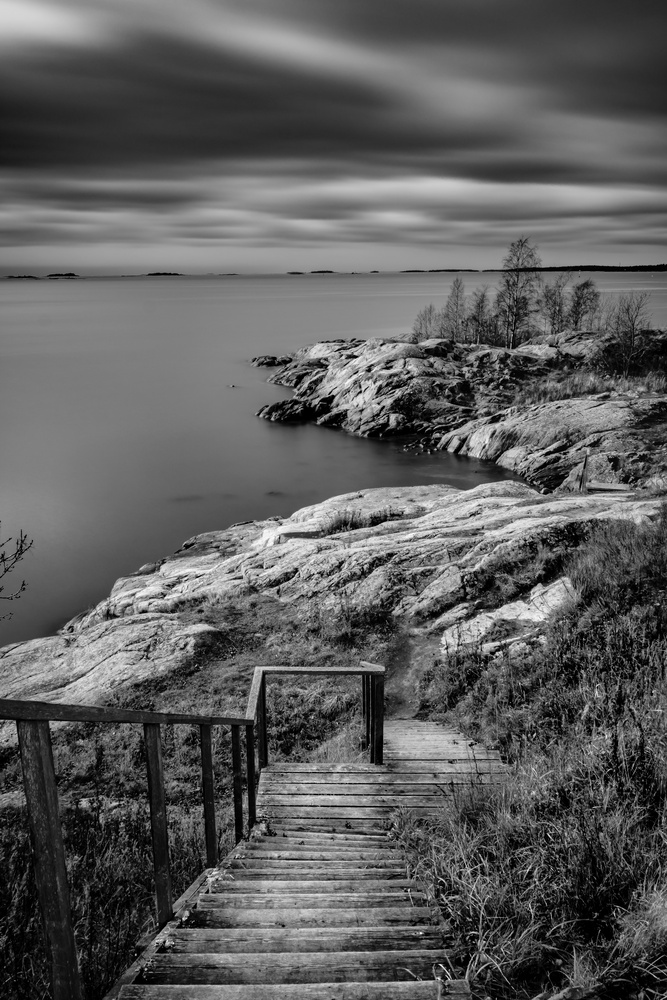 Suomenlinna b/w by andrew audley