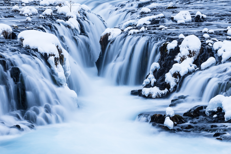Frozen Brúarfoss by Jeroen Van Nieuwenhove