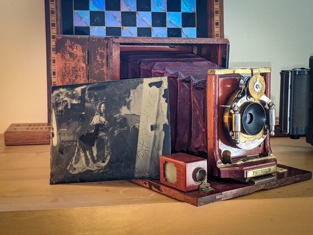 My first Tintype with Rockland Colloidal Kit by Roberto Serrini