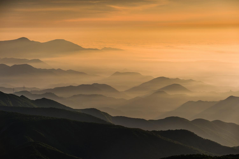 Morning in the mountains by kazuaki koseki