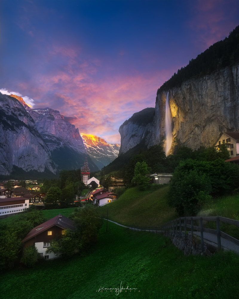 One dusky afternoon in Lauterbrunnen. by Jimmy Kohar