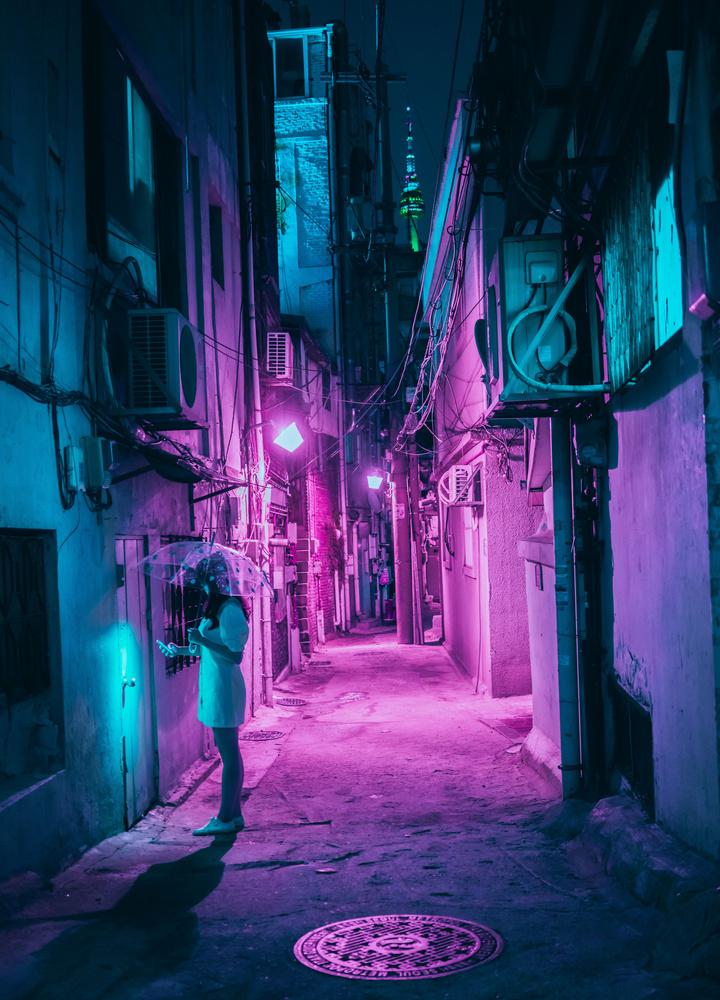 Cyberpunk Seoul by Steve Roe