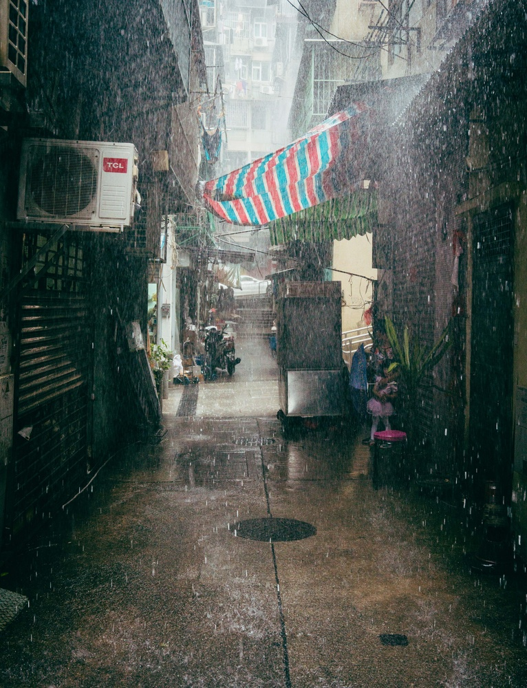 Macau Rain Storm by Steve Roe
