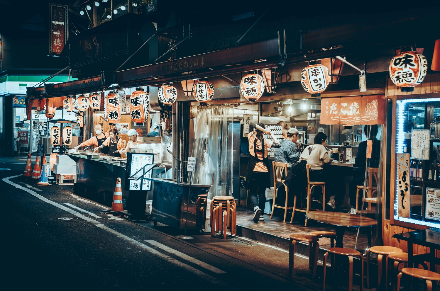 Eating Out in Osaka by Steve Roe