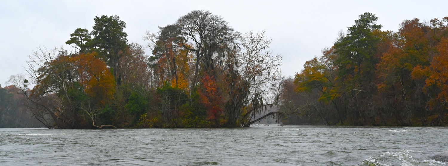 Rainy day on the river by Belton Zeigler