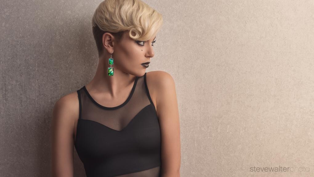 Amber earrings by Steve Walter