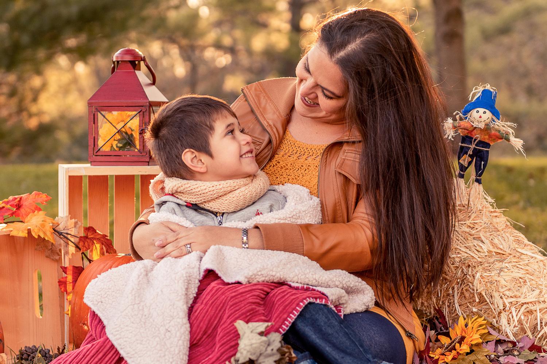 Fall Family Portrait - Me and Mom by Rodrigo Rodriguez