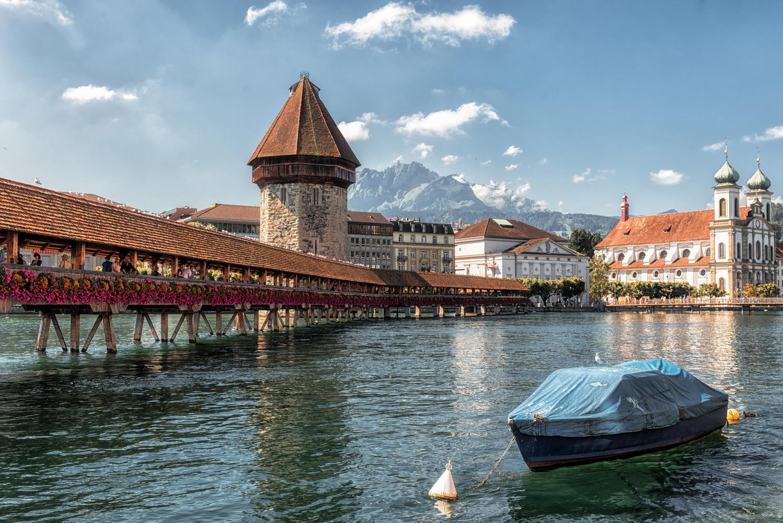 Chapel Bridge, Swiss by Nir Roitman