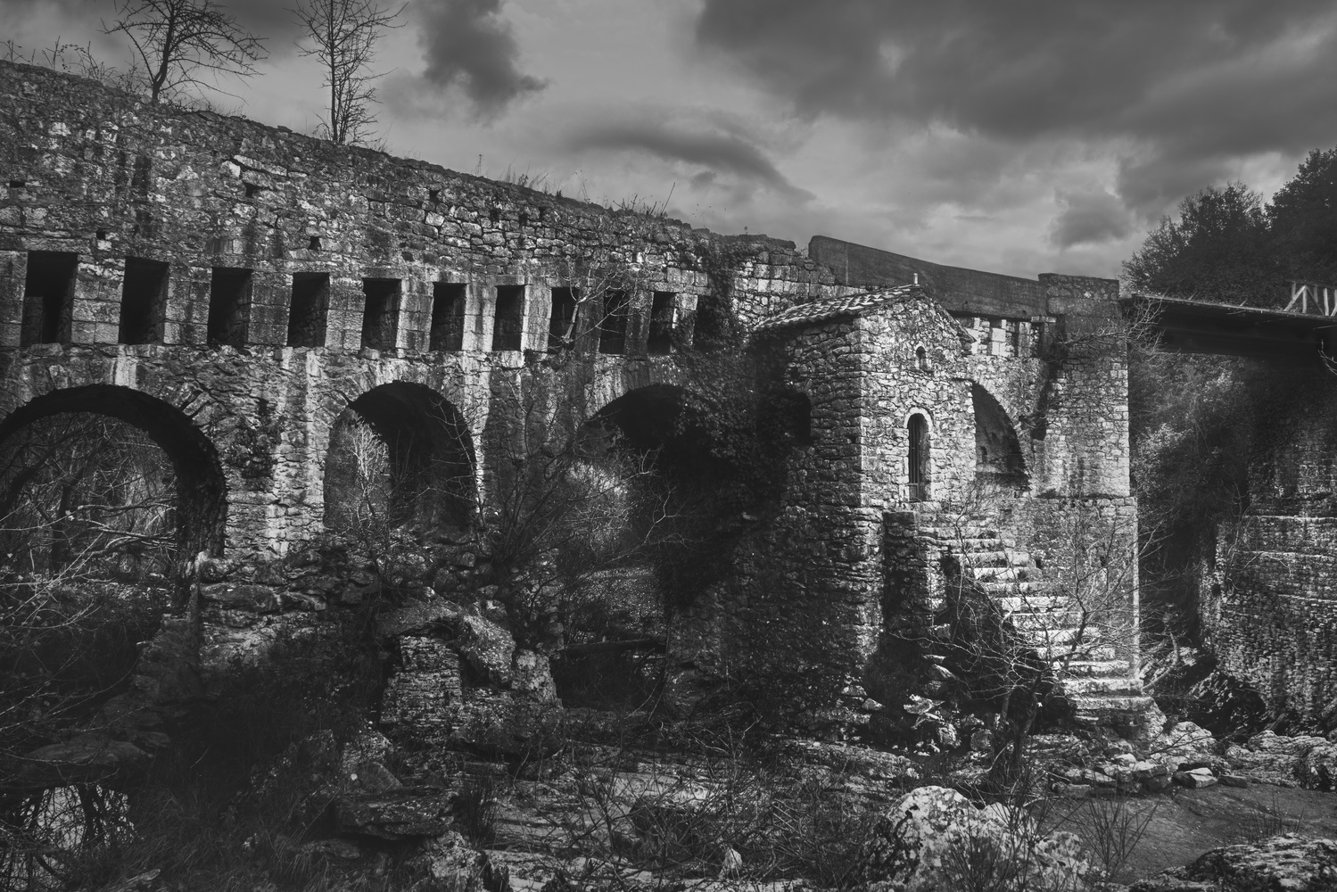 byzantine  old bridge by stathis floros