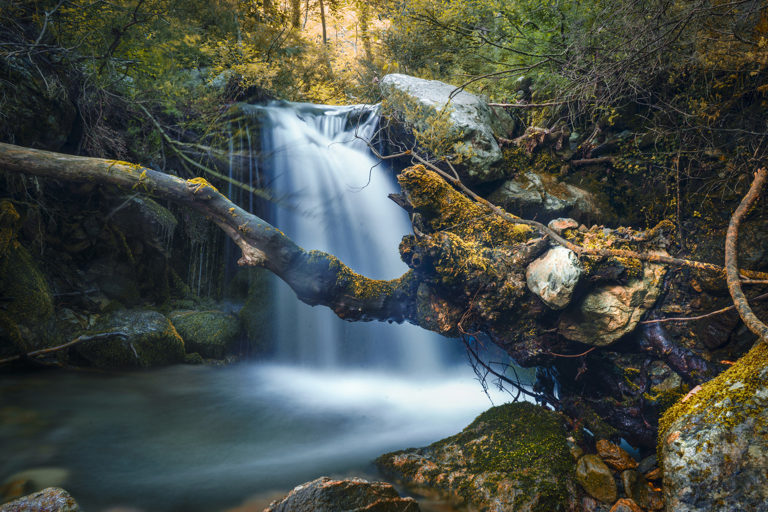 small waterfall by stathis floros