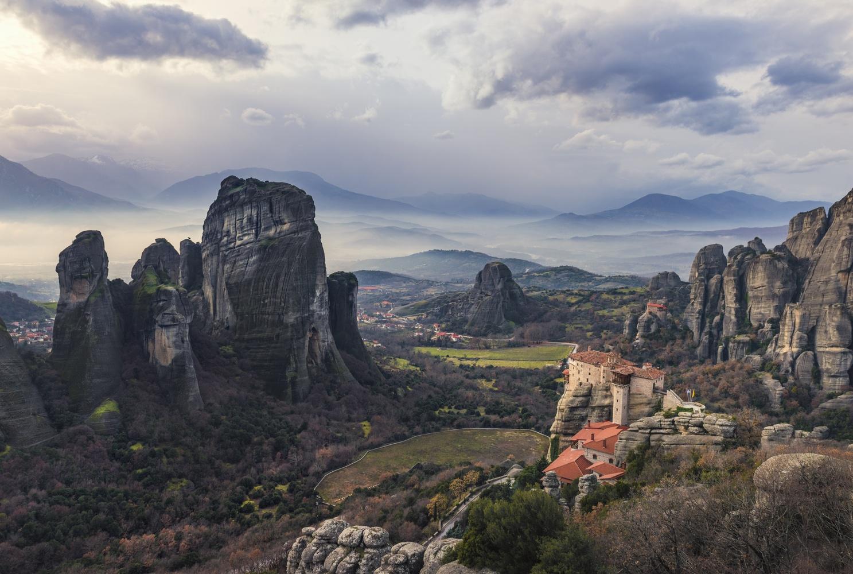 meteora monastery by stathis floros