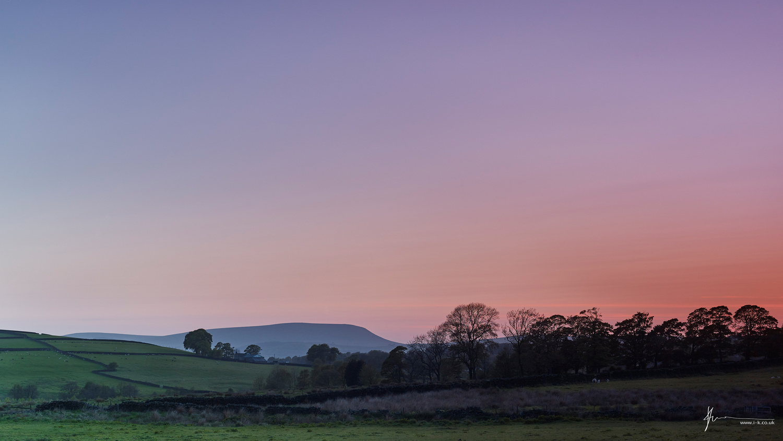 Sunset over Yorkshire Landscape by Imran Khan