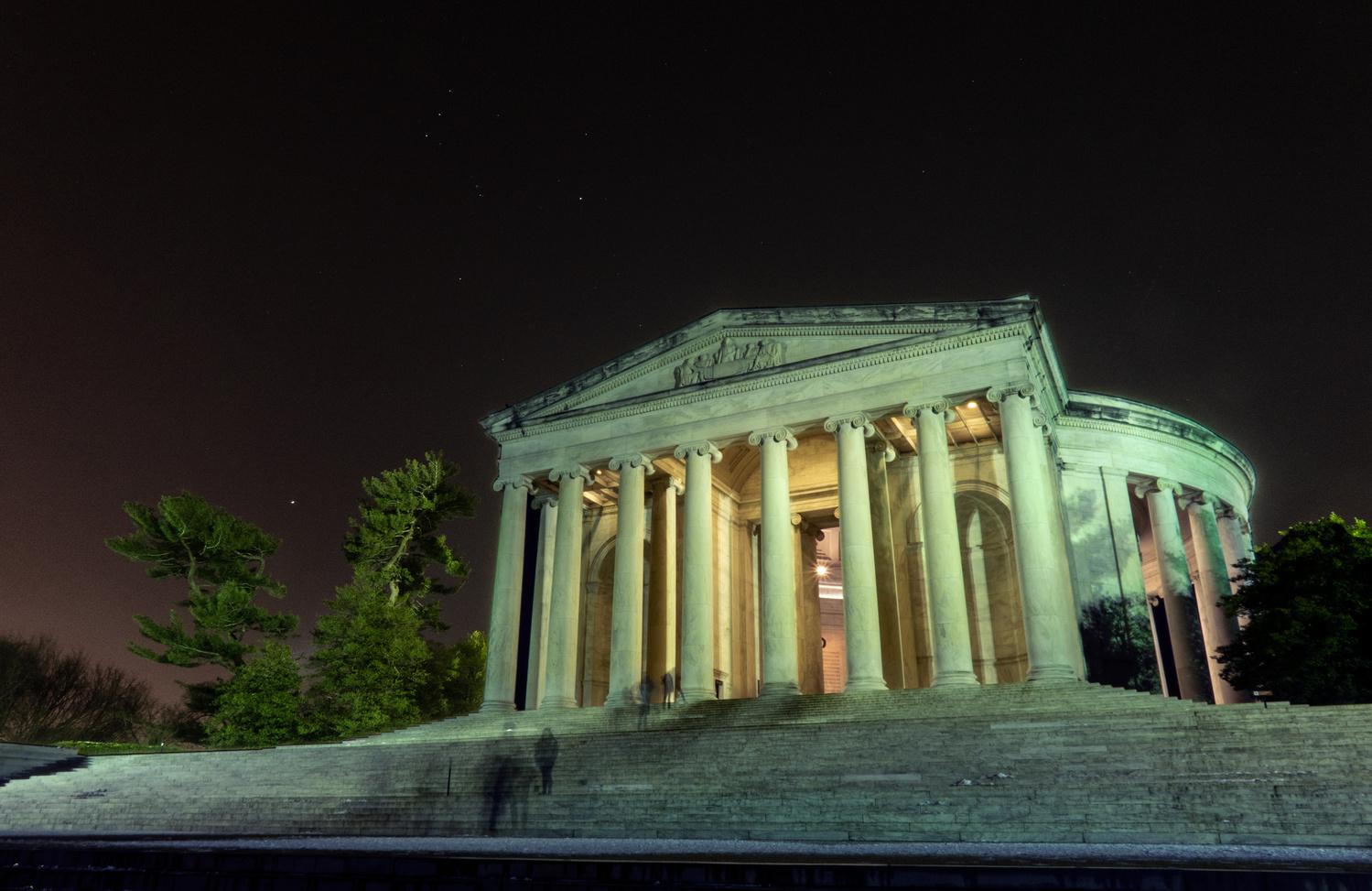 Long Exposure - Jefferson Memorial by David Wardrick
