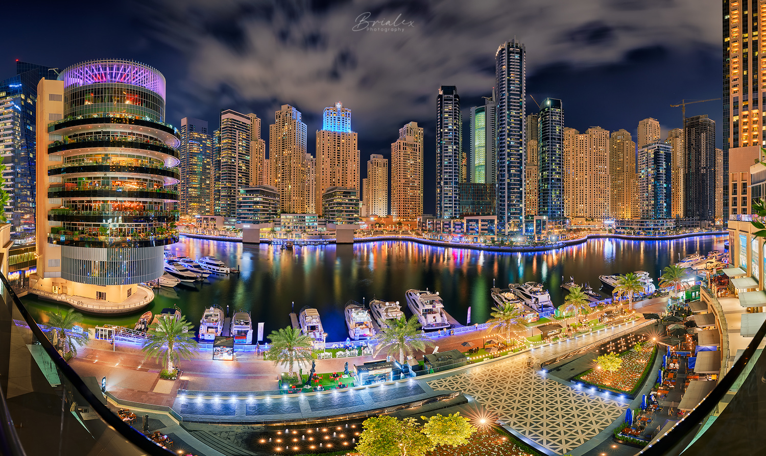 Dubai Marina by night by Brighilă Alex