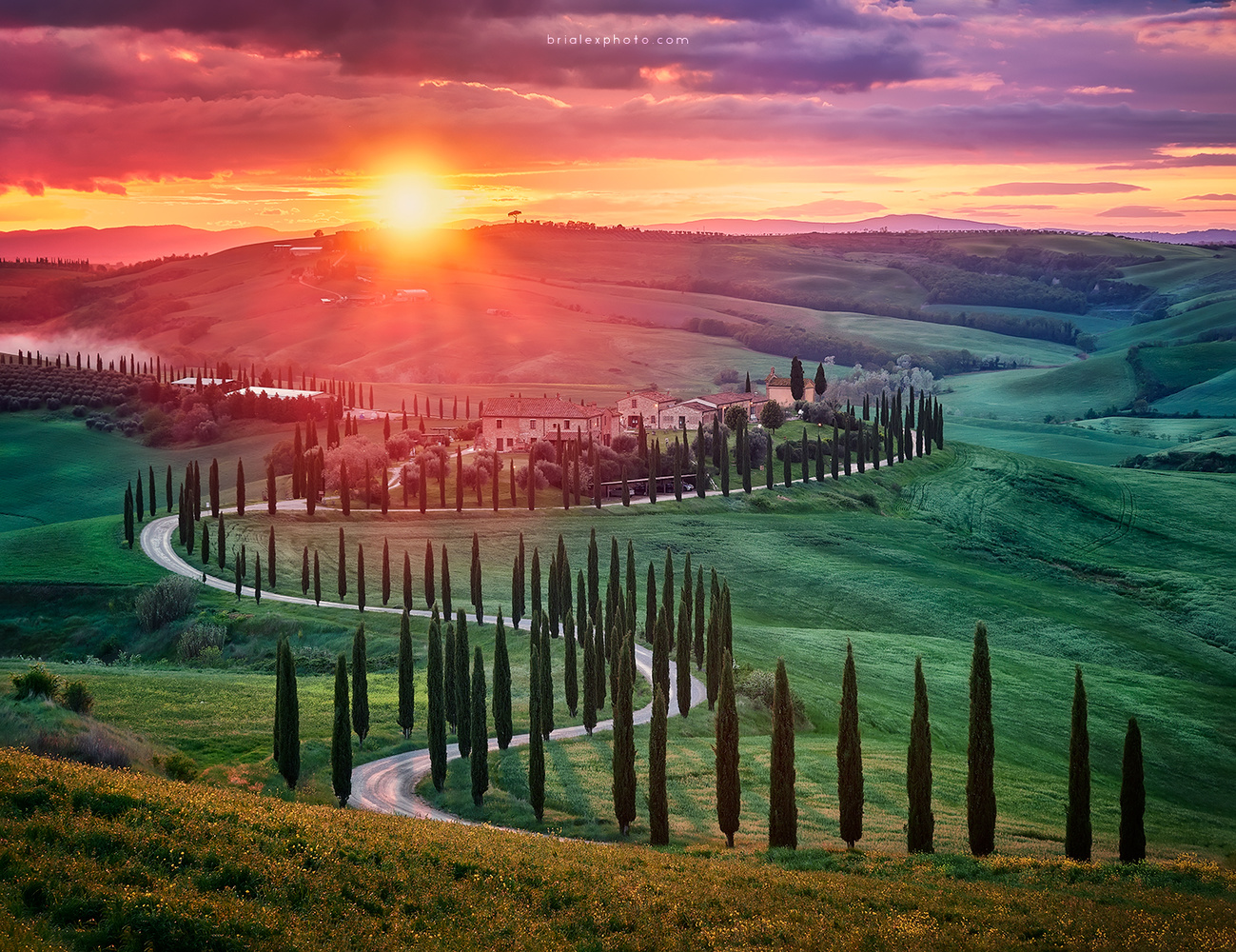 Tuscan Sunset by Brighilă Alex