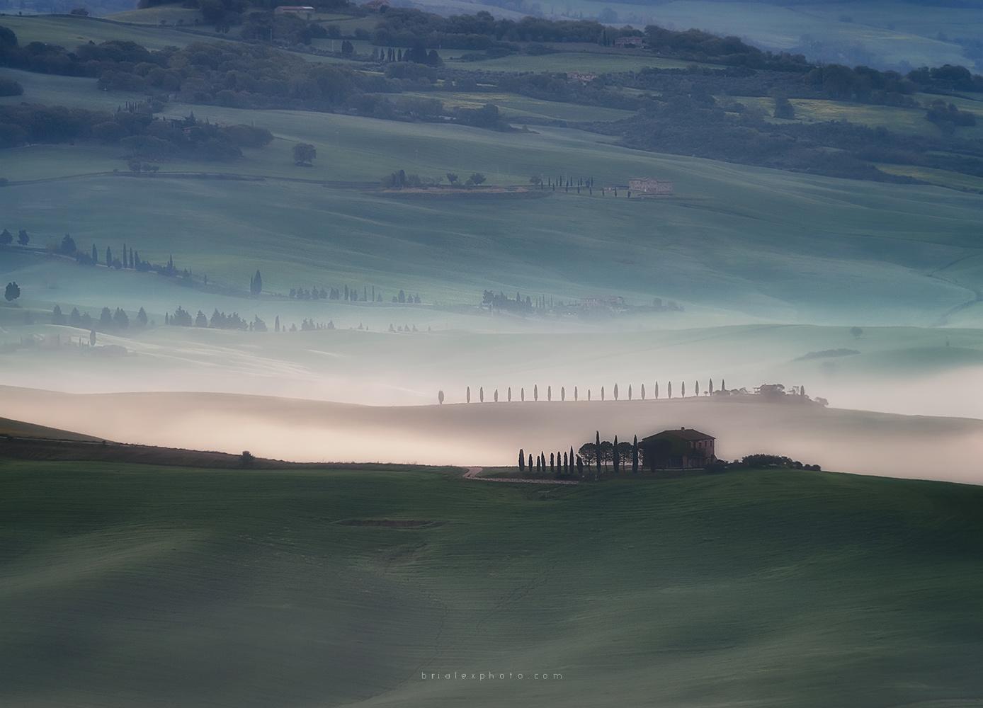 Tuscany at dawn by Brighilă Alex