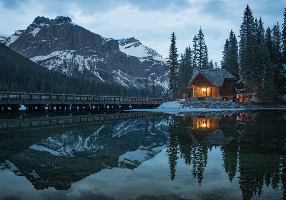 Blue hour at Emerald Lake by Denis Yankin