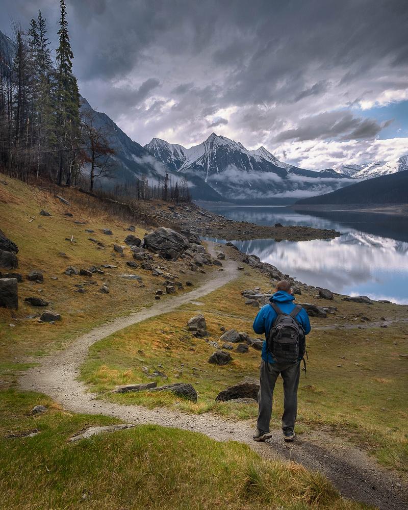 Hiking at Medicine Lake, Jasper by Denis Yankin