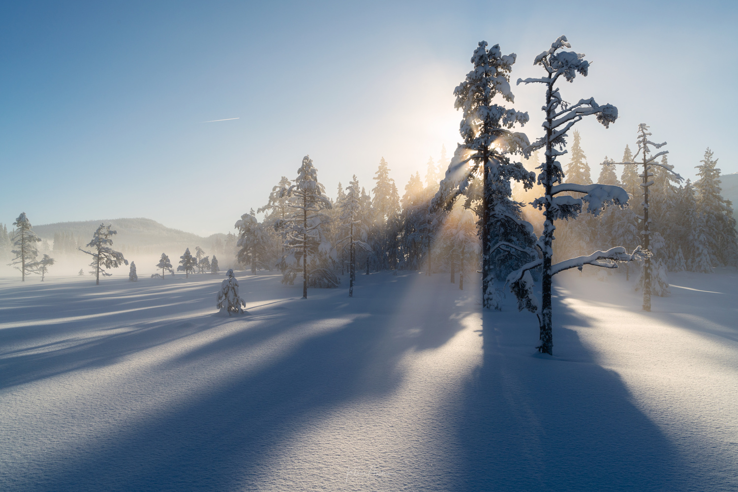 Rays of winter by Klaus Axelsen
