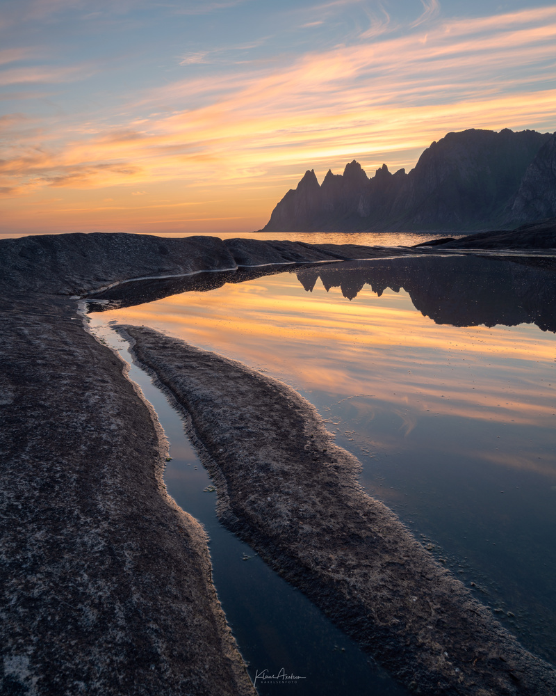 Tungeneset by night by Klaus Axelsen
