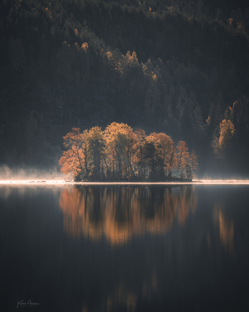 """Backlit autumn Island"" by Klaus Axelsen"